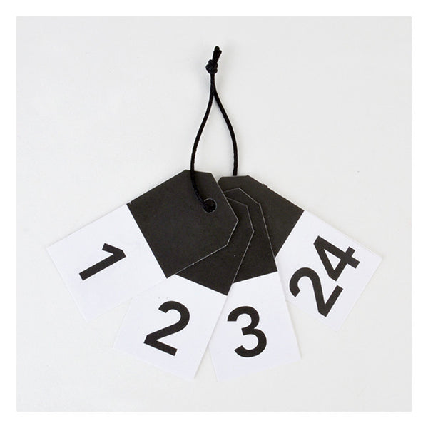 ADVENT Gift Tags Black
