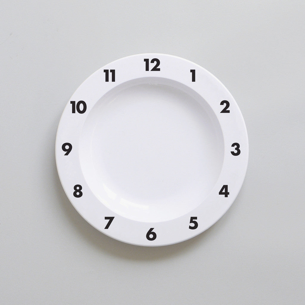 DINNER TIME – PLASTIC PLATE (BLACK)