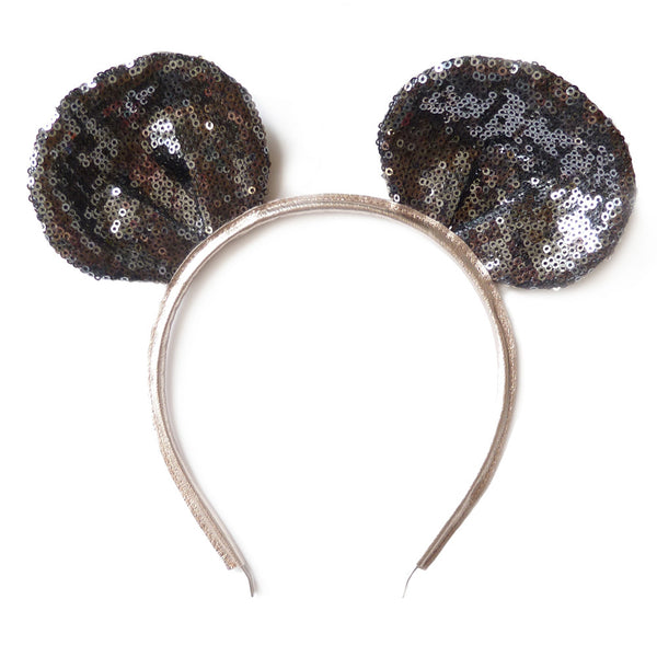 mouse ear - black sparkly