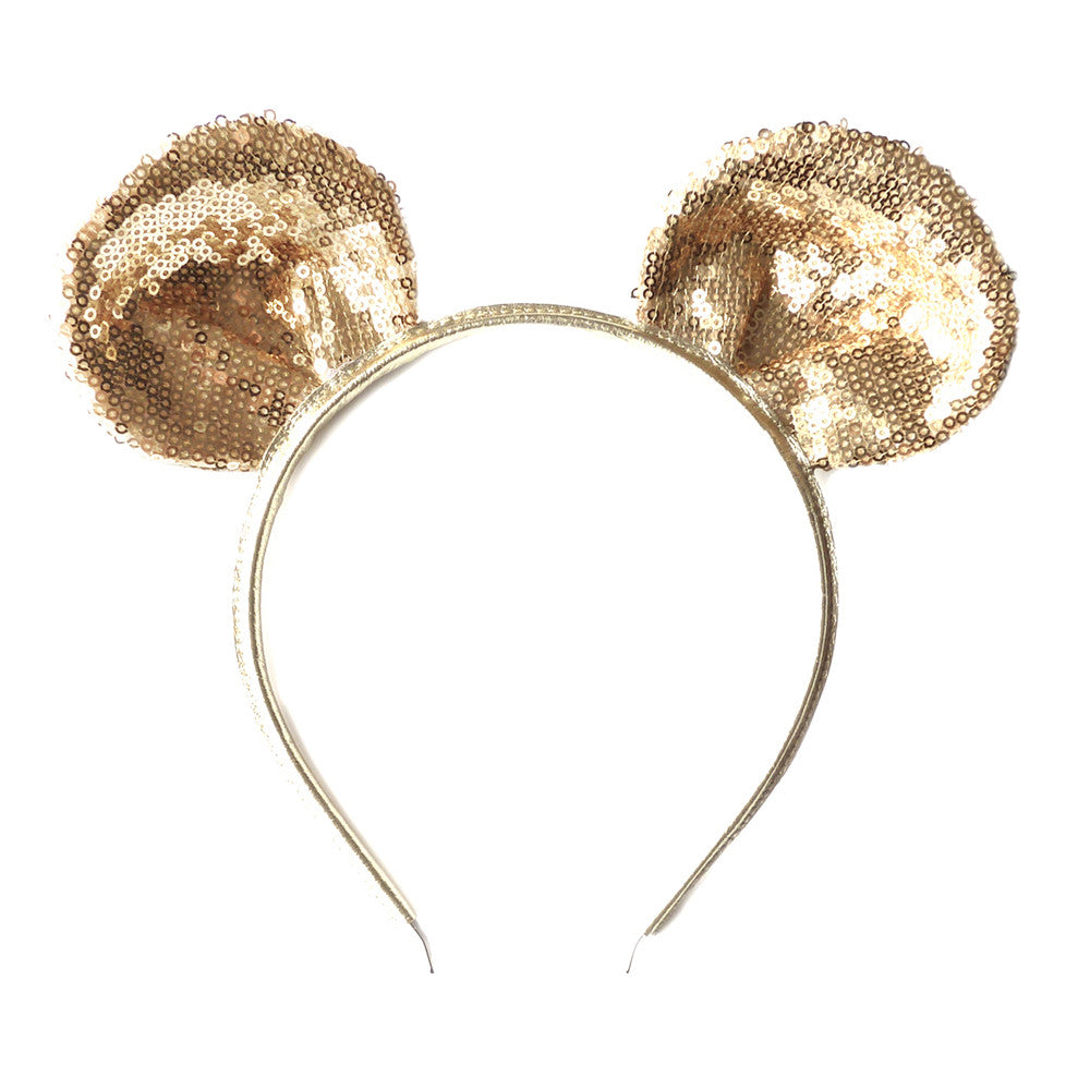 mouse ear - gold sparkly