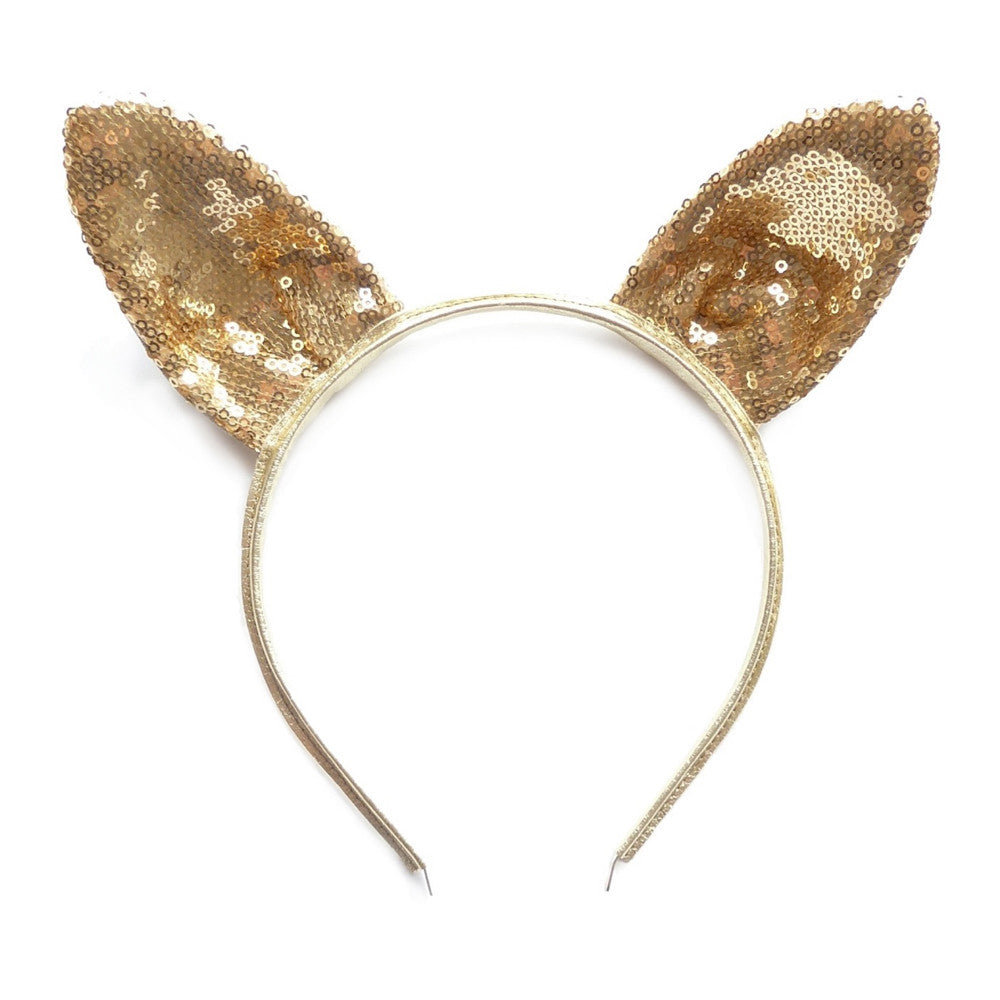 rabbit ear -gold sparkly