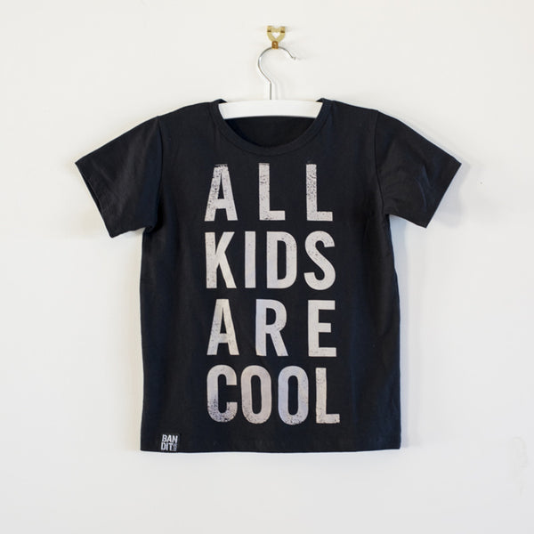 ALL KIDS ARE COOL BOYS TEE - BLACK
