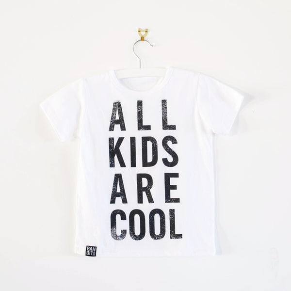 ALL KIDS ARE COOL BOYS TEE - WHITE