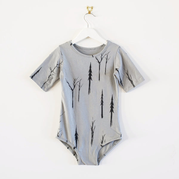 spooky forest bodysuit - Grey