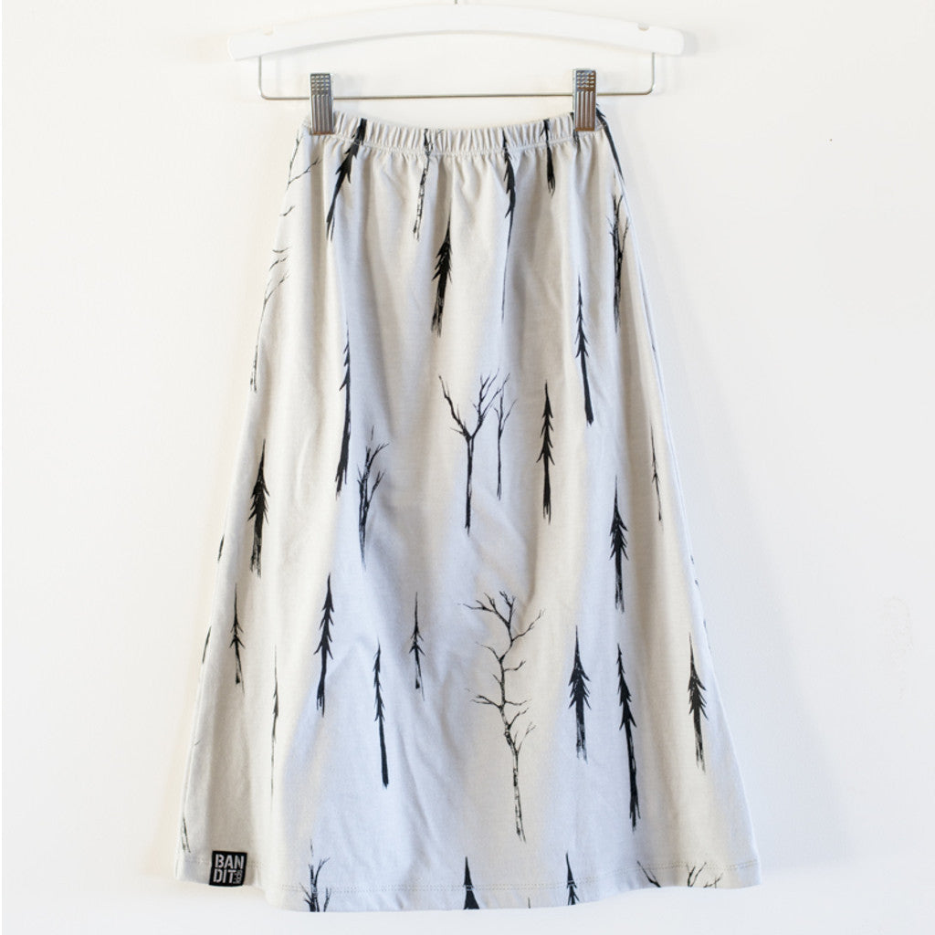 MAXI SKIRT SPOOKY FOREST  - GREY