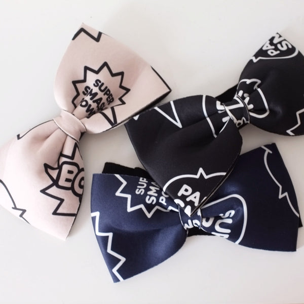 Oversize graphic bow HAIRBAND