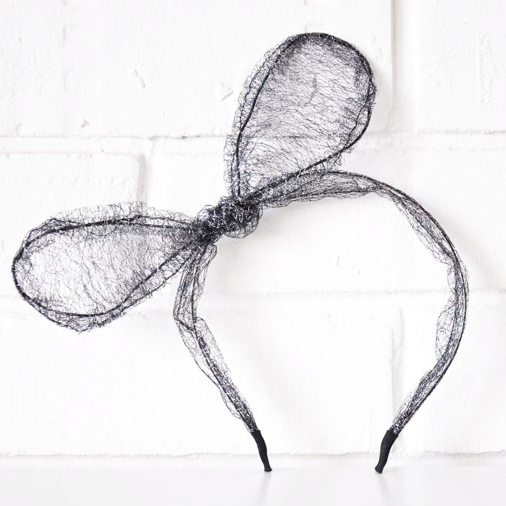 MESH BOW HAIRBAND