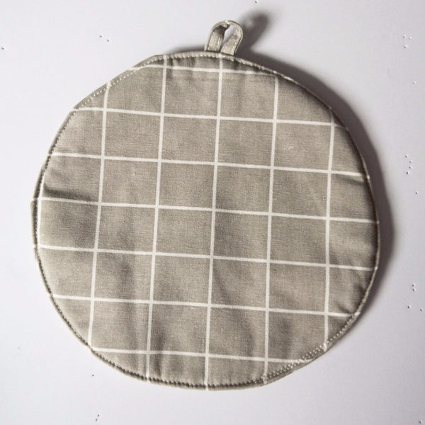 Grid POT MAT - Grey