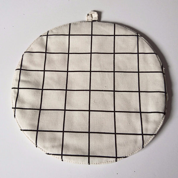 Grid POT MAT - Cream