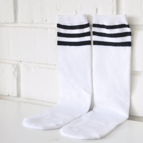 3 Stripes Sports Socks (White)