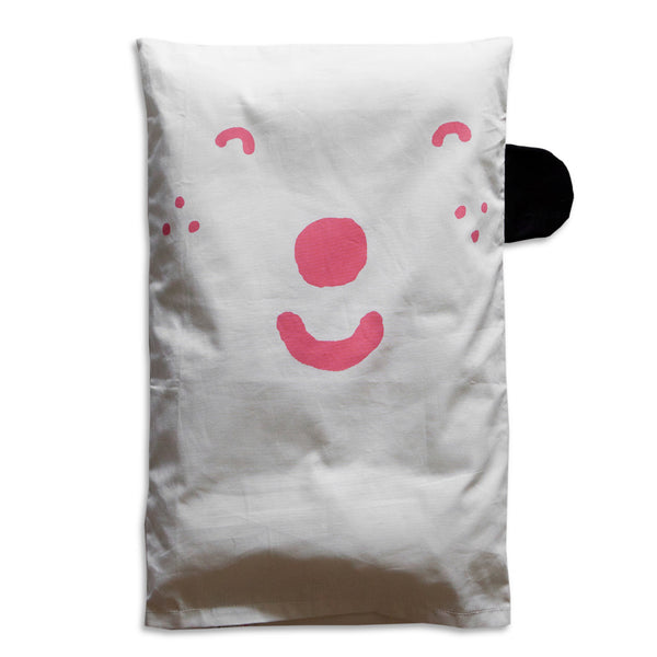 HAPPY/SAD PILLOW CASE - PINK