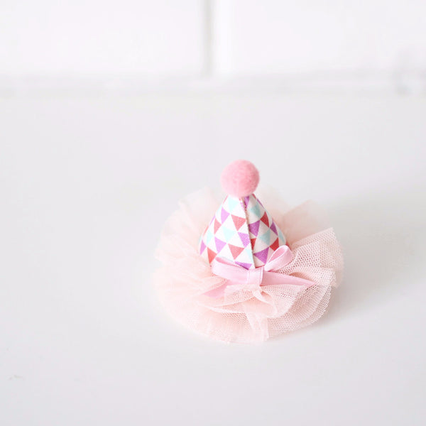 Tulle pom HAIRCLIP