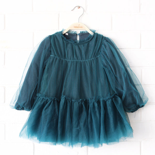 Tulle green dress