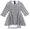 Grey Grid TWIRL Dress