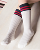 Preppy Stripes socks (White)