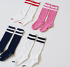 2 Stripes Socks (Pink)