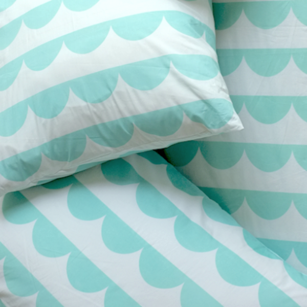 Bunting Cushion Cover (turquoise)