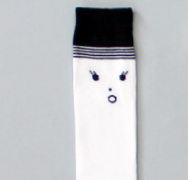 'OH' Face Knee High Socks