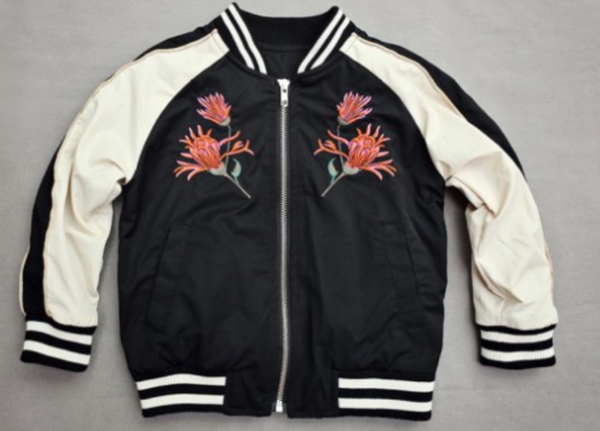 Baseball Bomber Jacket (black)