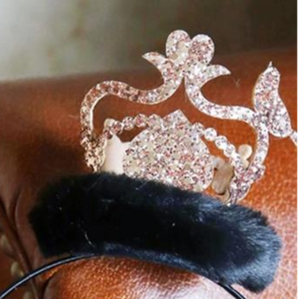 Crown Fur HEADPIECE (Elasticband)