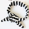 Striped Cotton collar scarf
