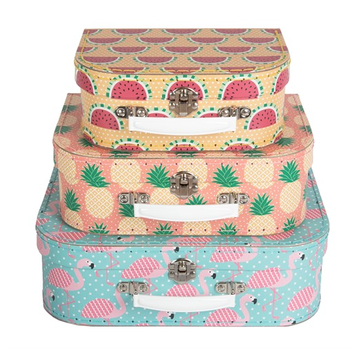 Set of 3 Summer suitcases