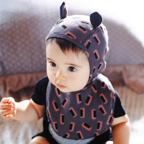Newborn baby pilot bonnet (GREY)