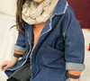 Oversize denim trench coat