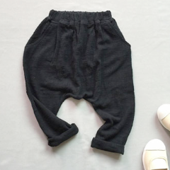 DROP CROTCH PANTS (BLack)