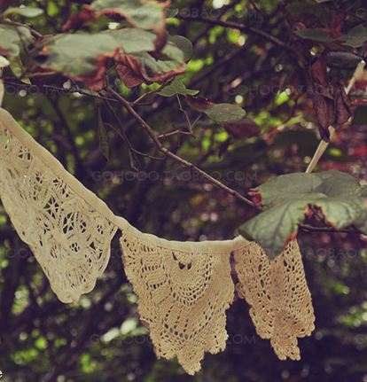 Lace crochet garland