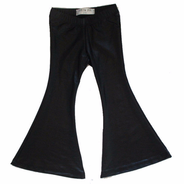 Jagger Vegan leather bell bottoms pants