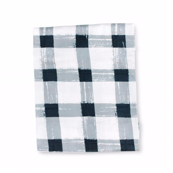 Grey Gingham Fitted Sheet