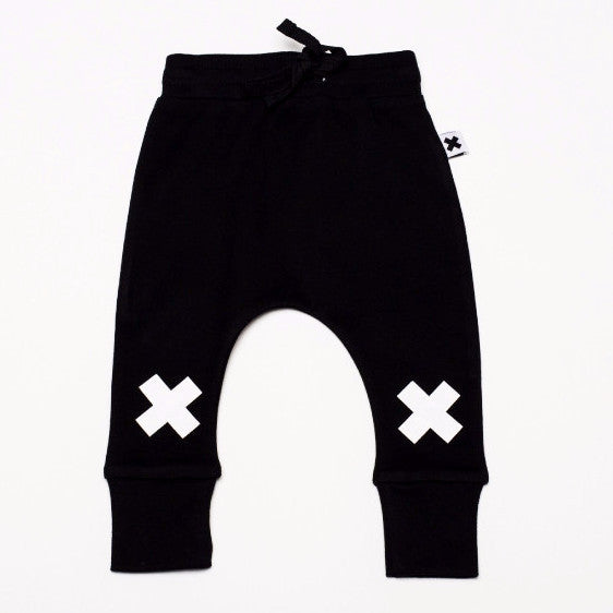 X DROP CROTCH PANTS BLACK
