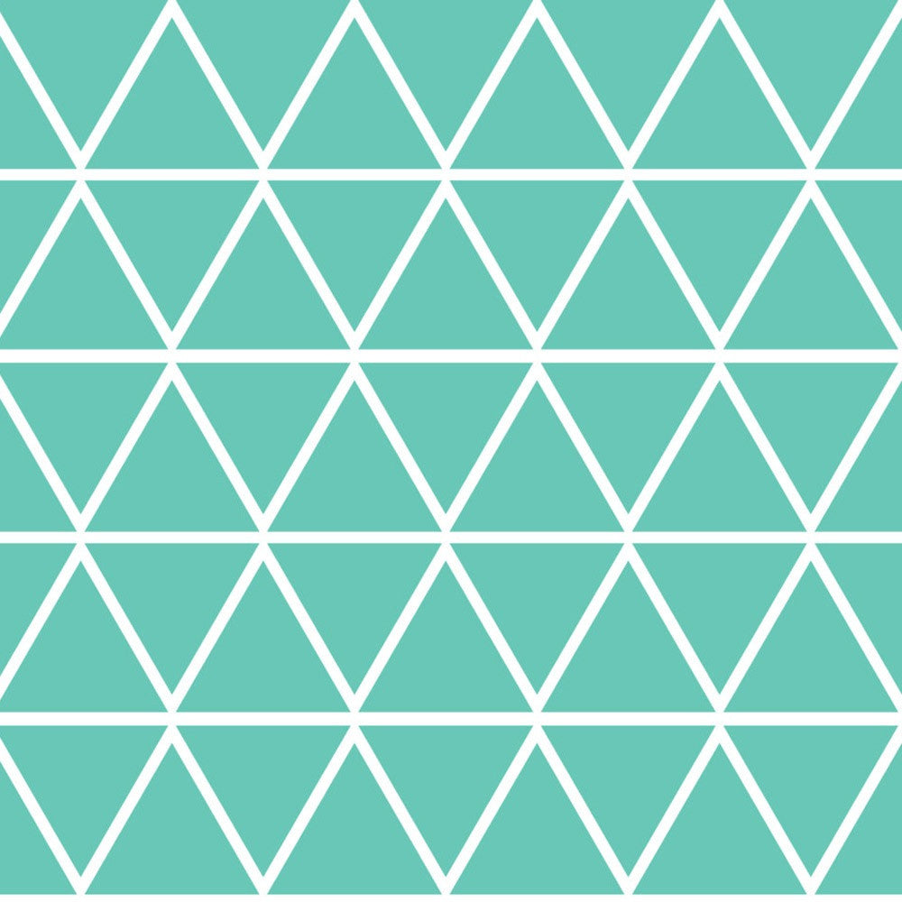 MINT TRIANGLES VINYL WALL DECALS