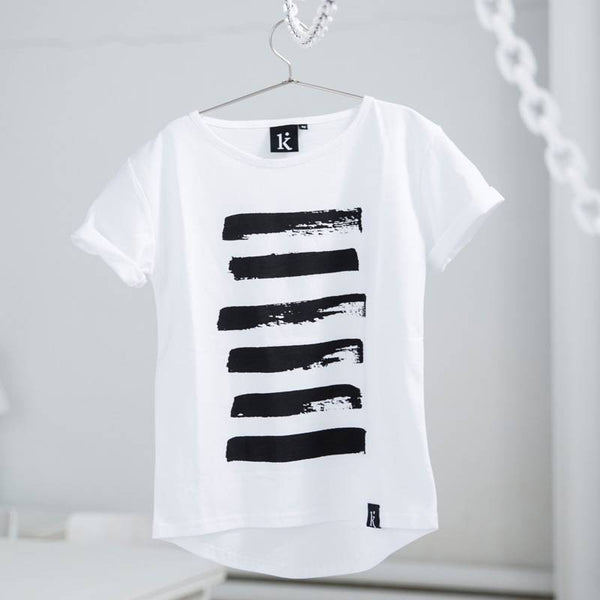 Tee Big Stripes White