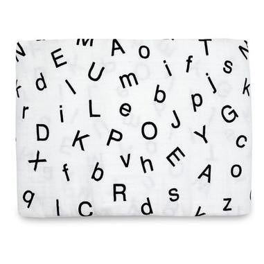 Organic Swaddle Blanket - Letters