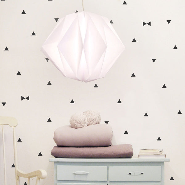 BLACK TRIANGLES VINYL WALL DECALS