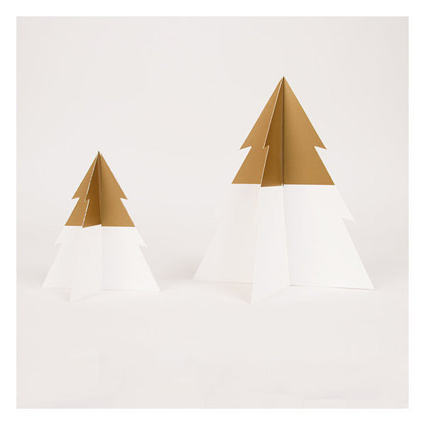 Gold & White Christmas Trees