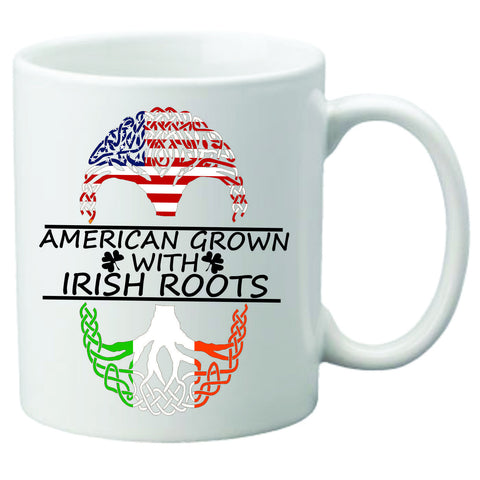 American Born With Irish Roots Coffee Mug
