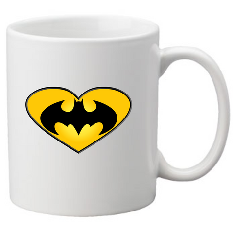Batman Heart Coffee Mug