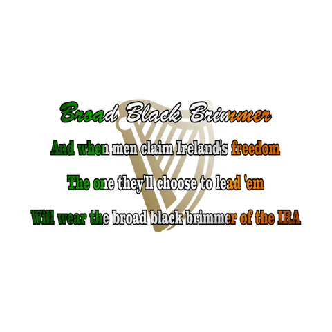 Broad Black Brimmer Lyrics T-Shirt
