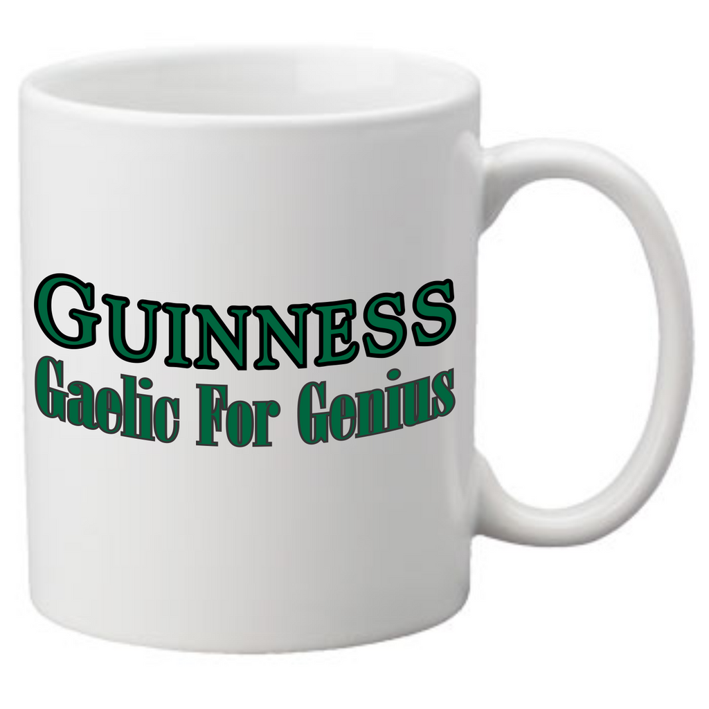 Guinness Gaelic for Genius Coffee Mug