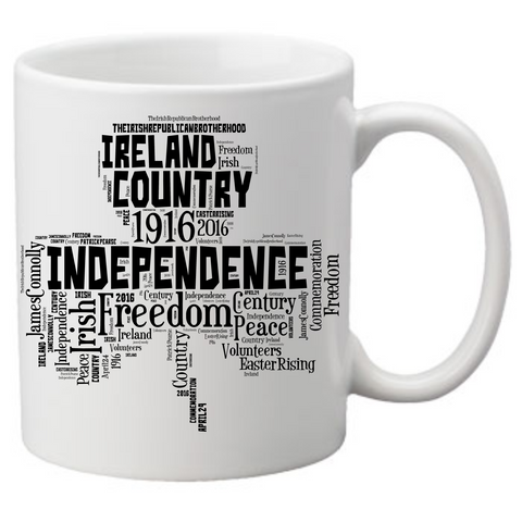Ireland Freedom Shamrock Coffee Mug