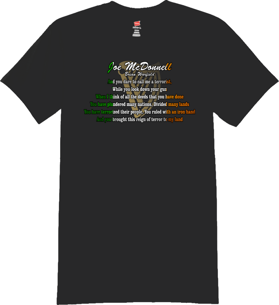 Joe McDonnell Lyrics T-Shirt