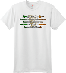 Men Behind the wire lyric t-shirt