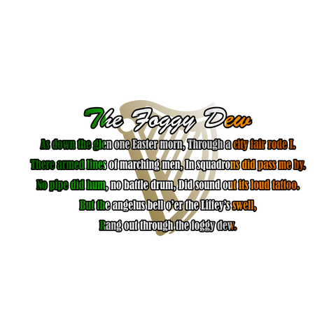 The Foggy Dew Lyrics T-Shirt