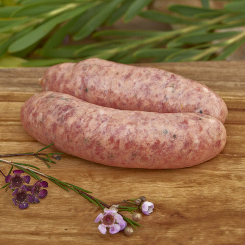 Pasture Fed Lamb and Rosemary Sausages