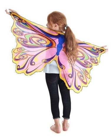 Rainbow Fairy Wings with Glitter
