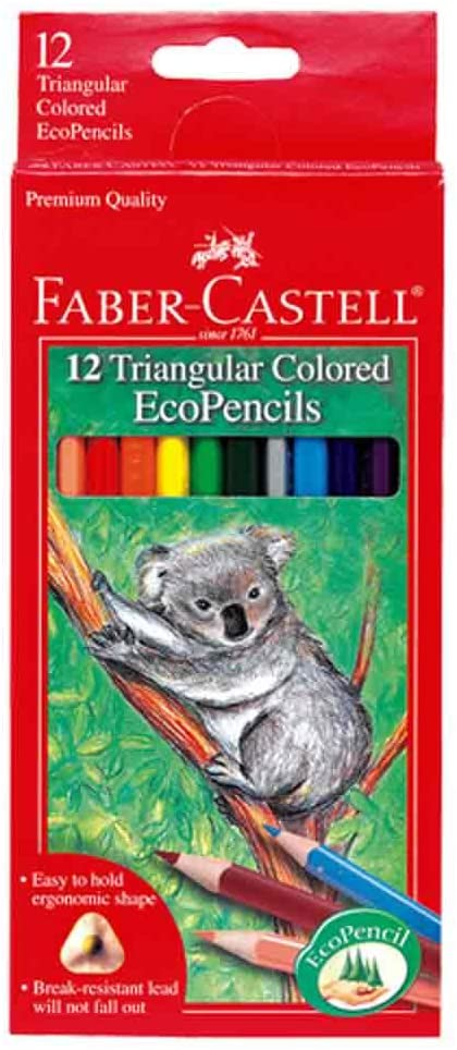 12 Triangular Colored EcoPencils