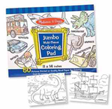 "Jumbo Coloring Pad - Blue (11"" x 14"")"